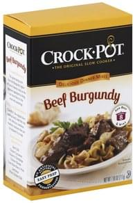 Crock Pot Delicious Dinners Mix Beef Burgundy