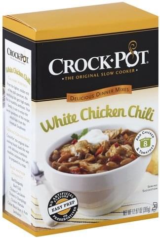 Crock Pot White Chicken Chili Delicious Dinners Mix - 12.87 oz