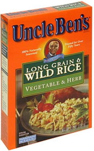 Uncle Bens Vegetable & Herb Long Grain & Wild Rice - 6.4 oz