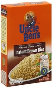Uncle Bens Brown Rice Instant, Natural Whole Grain