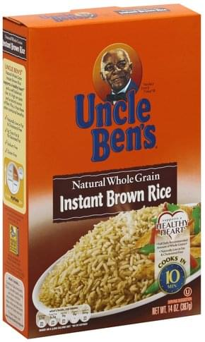 Uncle Bens Instant, Natural Whole Grain Brown Rice - 14 oz