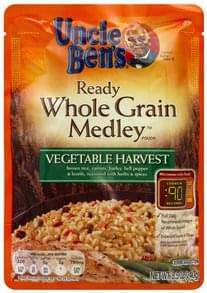 Uncle Bens Whole Grain Medley Pouch Ready, Vegetable Harvest
