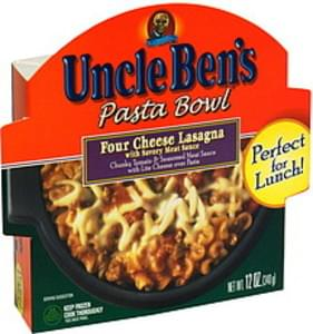 Uncle Bens Pasta Bowl Four Cheese Lasagna with Savory Meat Sauce