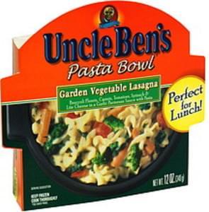Uncle Ben's Pasta Bowl Garden Vegetable Lasagna