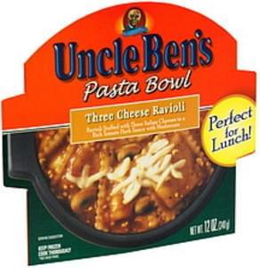 Uncle Bens Pasta Bowl Three Cheese Ravioli