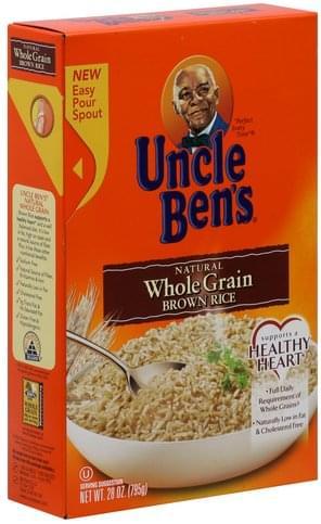 Uncle Bens Natural, Whole Grain Brown Rice - 28 oz