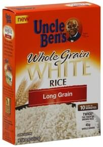 Uncle Bens Rice Whole Grain White, Long Grain