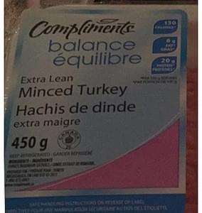 Compliments Balance Extra Lean Minced Turkey