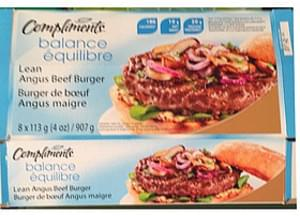 Compliments Lean Angus Beef Burger