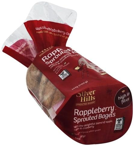 Silver Hills Sprouted, Rappleberry Bagels - 14 oz
