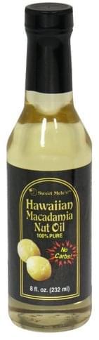 Sweet Meles Macadamia Nut Oil, Hawaiian Hawaiian Macadamia Nut Oil - 8 oz