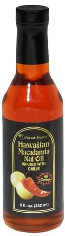 Sweet Meles Macadamia Nut Oil, Chili Hawaiian Macadamia Nut Oil - 8 oz