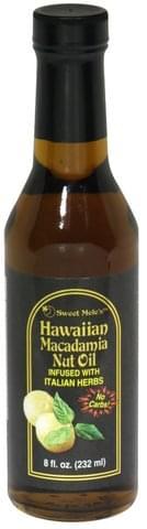 Sweet Meles Macadamia Nut Oil, Italian Herb Hawaiian Macadamia Nut Oil - 8 oz