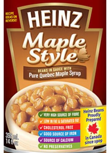 Heinz Maple Style Beans in Sauce with Pure Quebec Maple Syrup - 125 ml