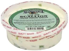 All Natural Cream Cheese Spread Low Fat, Scallion