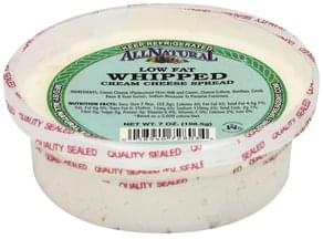 All Natural Cream Cheese Spread Low Fat, Whipped, Chives