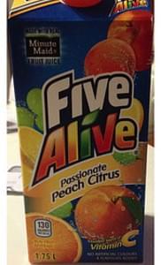 Minute Maid Five Alive Passionate Peach Citrus