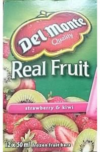 Del Monte Frozen Fruit Bars Strawberry & Kiwi