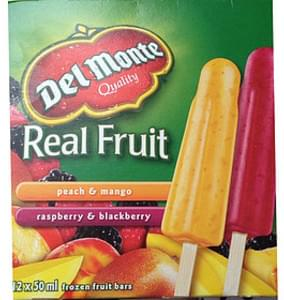 Del Monte Fruit Bars Peach & Mango