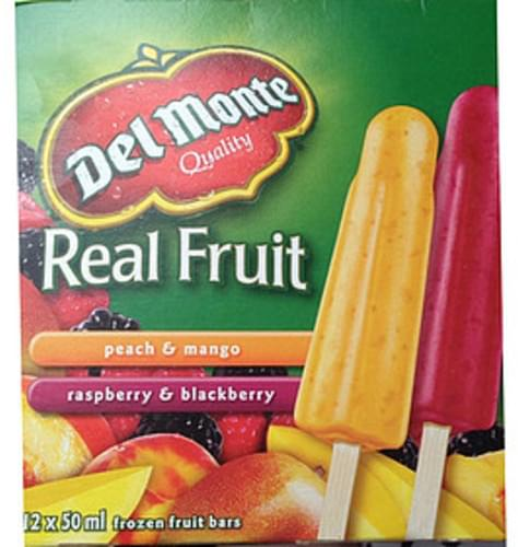 Del Monte Peach & Mango Fruit Bars - 50 ml