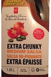 President's Choice Medium Salsa Extra Chunky
