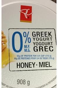 President's Choice Honey Greek Yogurt