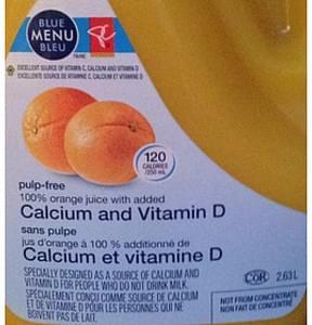 Blue Menu Bleu Orange Juice