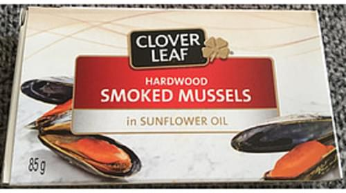 Clover Leaf Hardwood Smoked Mussels In Sunflower Oil - 65 g