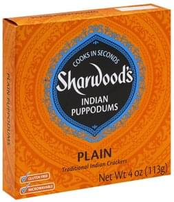 Sharwoods Puppodums Indian, Plain