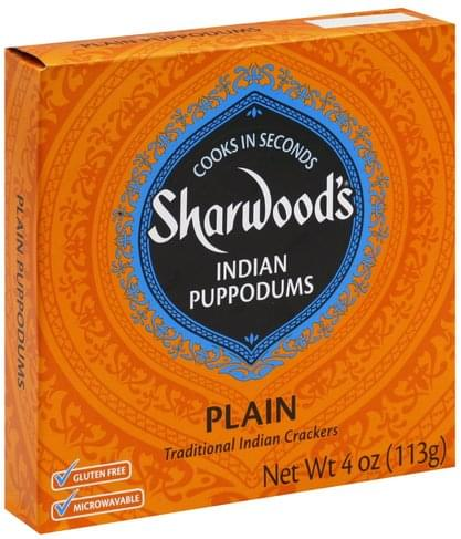 Sharwoods Indian, Plain Puppodums - 4 oz