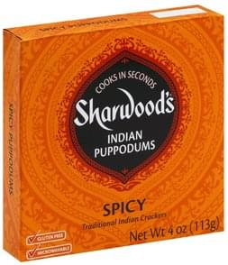 Sharwoods Puppodums Indian, Spicy