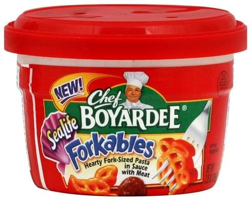 Chef Boyardee Hearty Fork-Sized, SeaLife, in Sauce with Meat Pasta - 7.25 oz