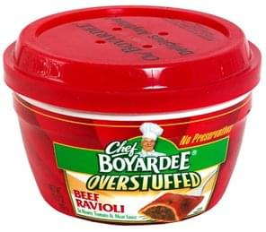 Chef Boyardee Overstuffed Beef Ravioli in Hearty Tomato & Meat Sauce