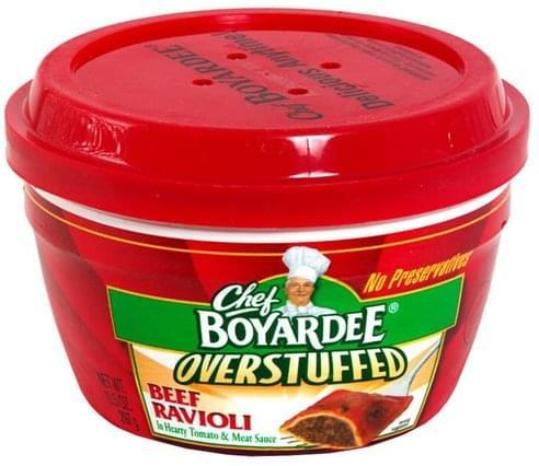 Chef Boyardee in Hearty Tomato & Meat Sauce Overstuffed Beef Ravioli - 10.5 oz