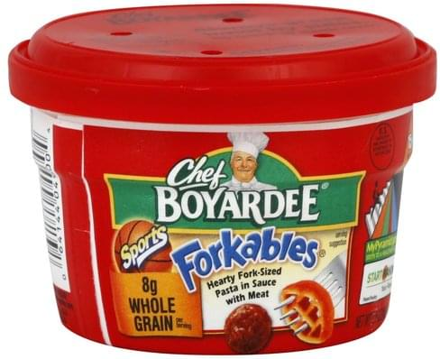 Chef Boyardee Hearty Fork-Sized, Sports Pasta - 7.25 oz