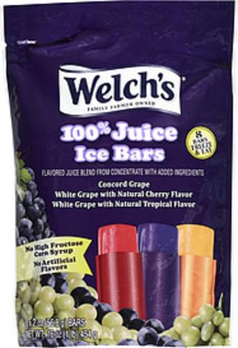 Welch's 100% Juice 2 Oz Ice Bars - 8