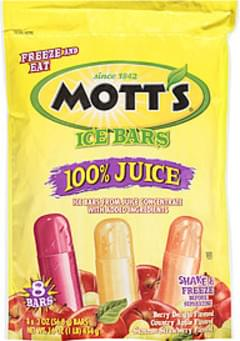 Mott's Ice Bars 100% Juice 2 Oz