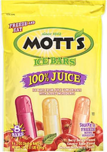 Mott's 100% Juice 2 Oz Ice Bars - 8