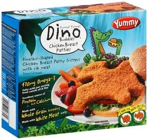 Yummy Chicken Breast Patties Dinosaur-Shaped