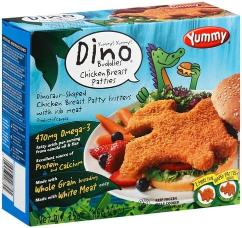 Yummy Dinosaur-Shaped Chicken Breast Patties - 25 oz