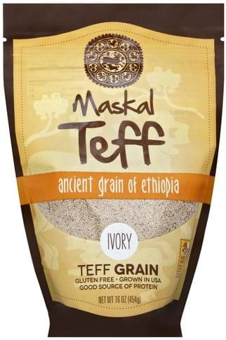 Maskal Teff Ancient Grain of Ethiopia, Ivory Teff Grain - 16 oz