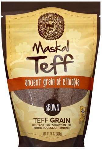Maskal Teff Ancient Grain of Ethiopia, Brown Teff Grain - 16 oz