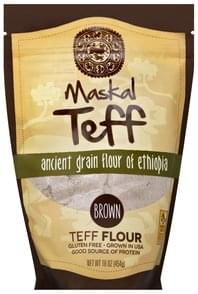 Maskal Teff Teff Flour Ancient Grain Flour of Ethiopia, Brown