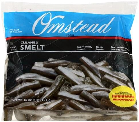 Omstead Cleaned, Fresh Water Smelt - 16 oz