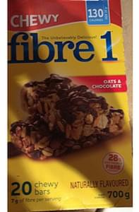 Fibre 1 Oats & Chocolate Chewy Bar