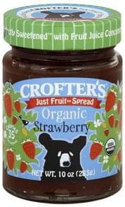 Crofters Fruit Spread Organic, Strawberry