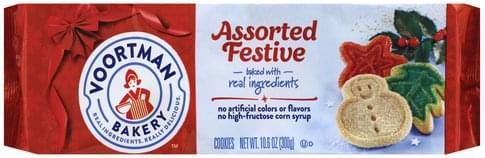 Voortman Festive Assorted Cookies 10 6 Oz Nutrition Information