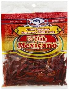 El Club Mexicano Chili Pods Japanese, Very Hot