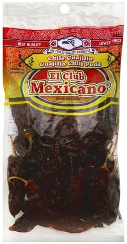 El Club Mexicano Pods, Medium Hot Guajillo Chili - 8 oz