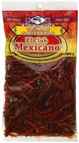 El Club Mexicano Pods Arbol Chili - 8 oz
